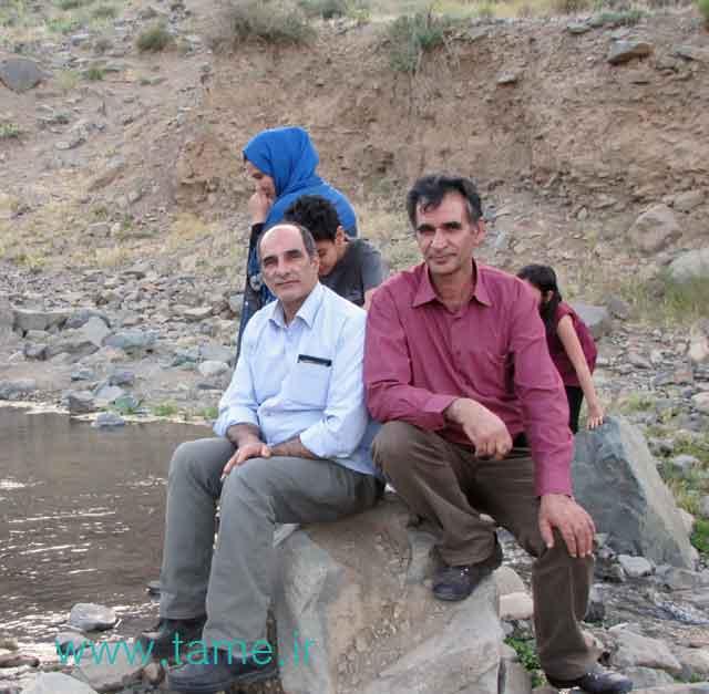 درخانه سیاه  اقای عابدی و حاجی زاده